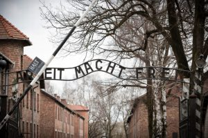 The gate at Auschwitz